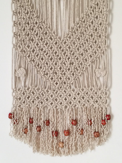 MACRAME WALL HANGING 59, Off White, cotton cord