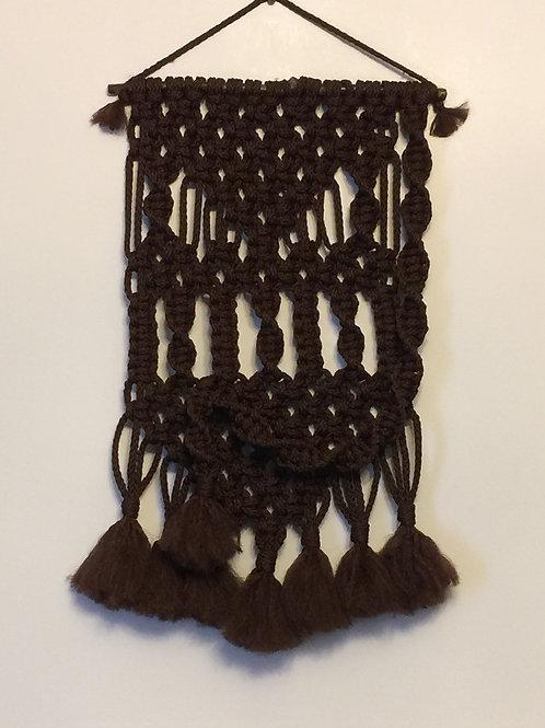 MACRAME WALL HANGING 63, Dark Brown Bonnie Craft Cord