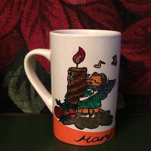 ANGEL, CANDLE  and GIFTS Hand-painted Coffee Mug