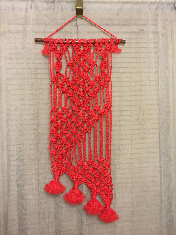Bonnie craft cord 6mm - Macrame Wall Hanging 25 Red Bonnie Craft Cord