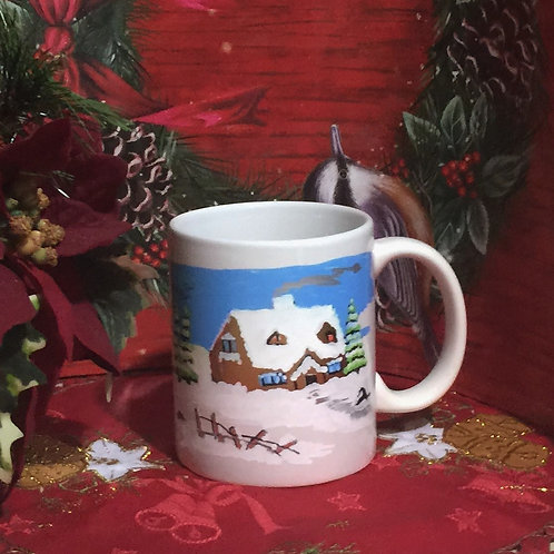 WINTER Hand-painted Coffee Mug