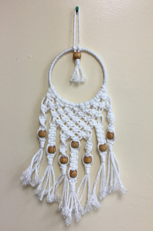 MACRAME WALL HANGING 67, White Bonnie Craft Cord
