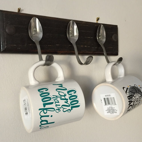 THREE SPOON HANGER (4) Decorated hanger, Gift for Mom