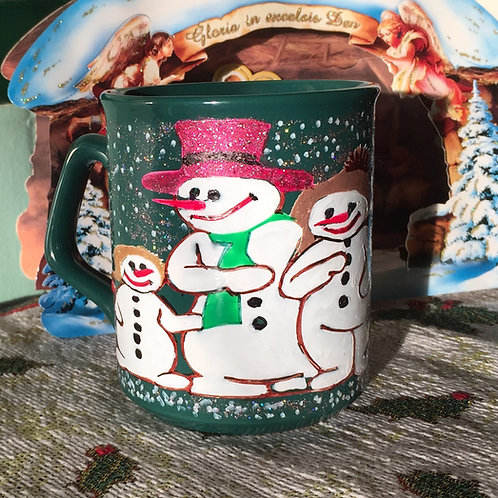 SNOWMEN Hand-decorated Coffee Mug