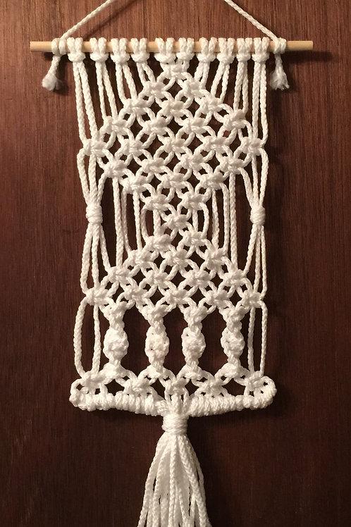 MACRAME WALL HANGING 14, white, Bonnie Craft Cord