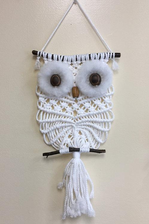 OWL #198 Macrame Wall Hanging, Macrame Owl