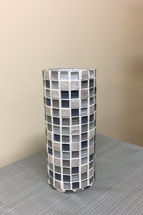 VASE (02) Mosaic Vase, Glass,