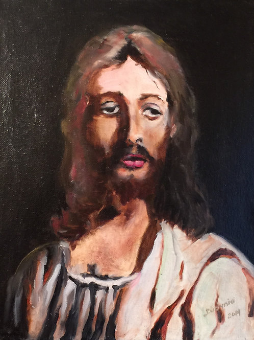 CHRIST original oil painting on stretched canvas