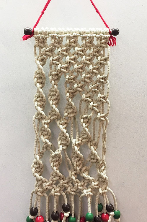 MACRAME WALL HANGING 62, Off White, cotton cord