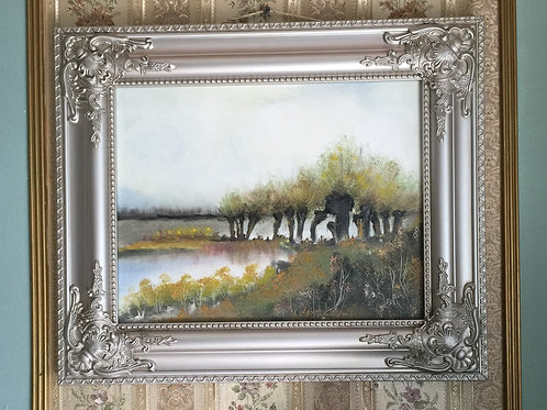 """WILLOWS original oil painting on canvas 11""""x14"""""""
