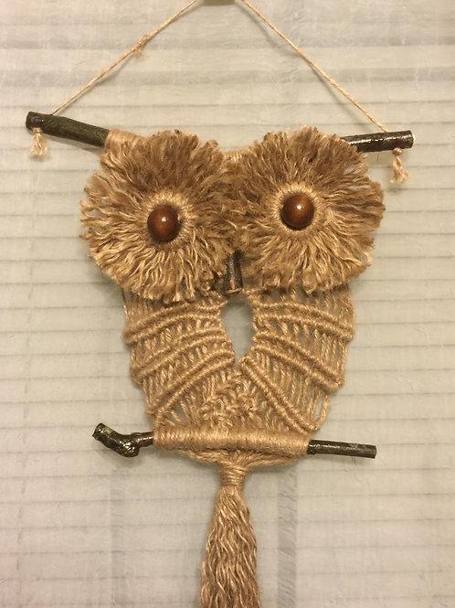 OWL 41 Macrame Wall Hanging, natural, jute