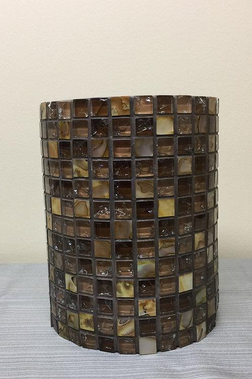 VASE (03) Mosaic Vase, Glass,