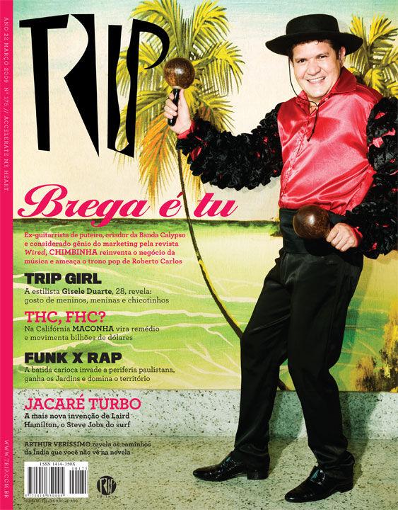 Musico Chimbinha/Banda Calipso. Capa Revista Trip. Photo: Julio Kohl