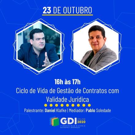 W3K no GDI Online 2020 falando sobre Gestão de Contratos e Assinatura Digital