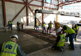 IHC Crew Busy at Work on the Attack Hanger Project at Fort Carson in Colorado