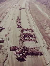 Paving I-275 Michigan, 1975