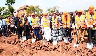 Groundbreaking for apartment buildings at RGHM
