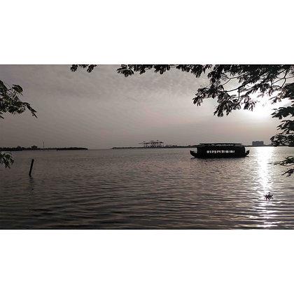 Shikara ride on marine bay Cochi