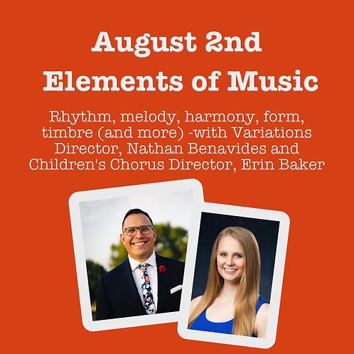 Summer Music Workshop Series: August 2, 2021
