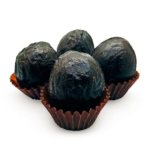Pruneaux fourrés au chocolat et crème de pruneaux