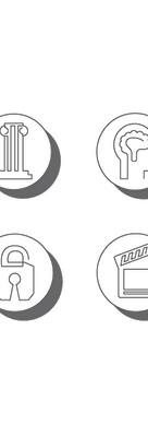 Addiction Treatment Strategies Icons