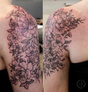 Sophie shoulder flowers