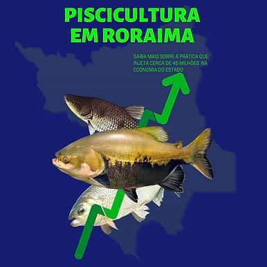 Piscicultura em Roraima: Atividade é mais lucrativa que Bovinocultura no Estado