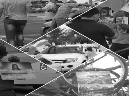 Semáforos de Boa Vista são locais de trabalho para venezuelanos