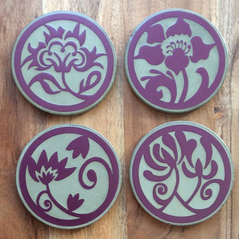 FLORAL _ purple