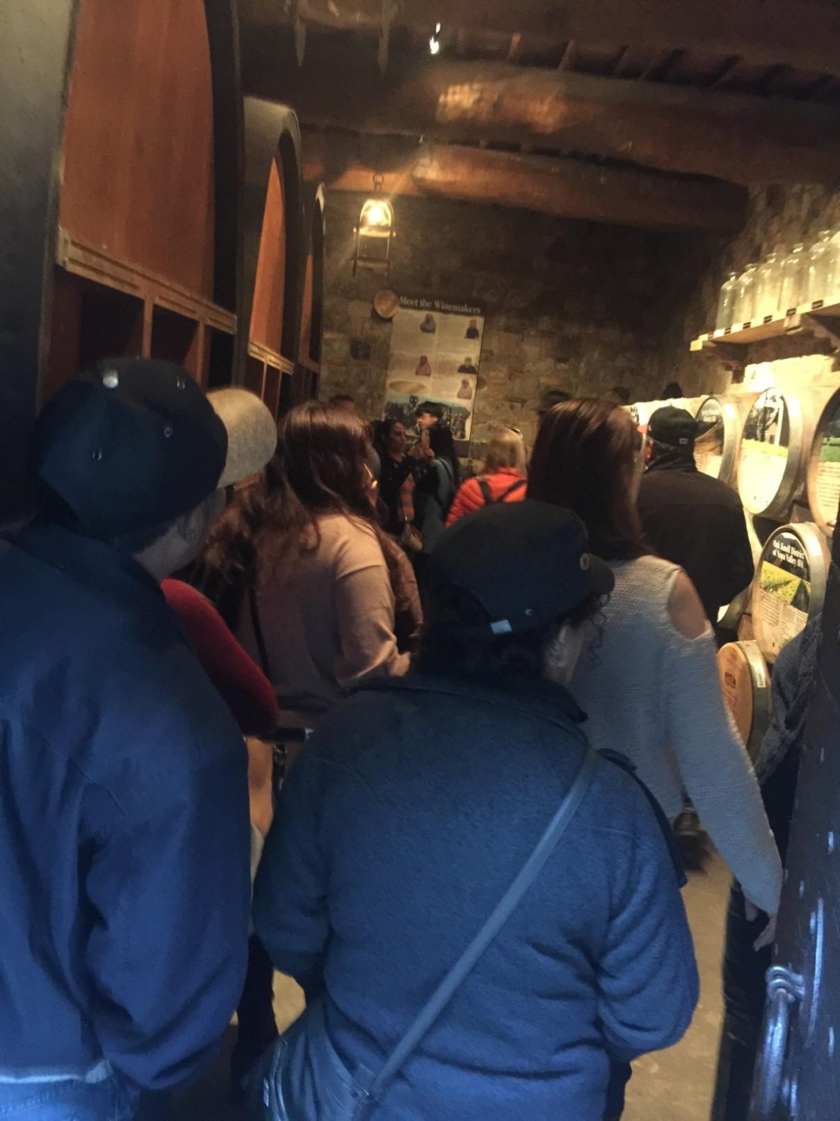 Dentro del castillo en Napa