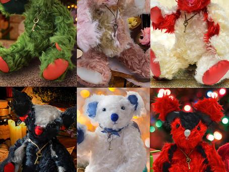 クリスマスにテディベア  いろいろなテディベアが勢ぞろい!