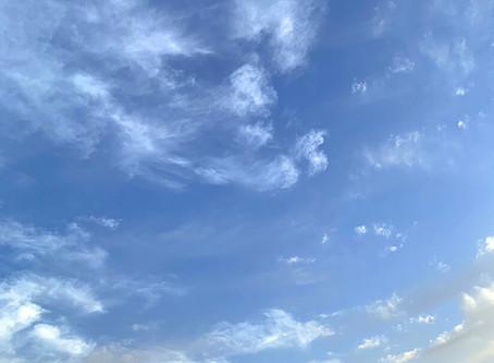 透き通った空に感動〜 ^.^