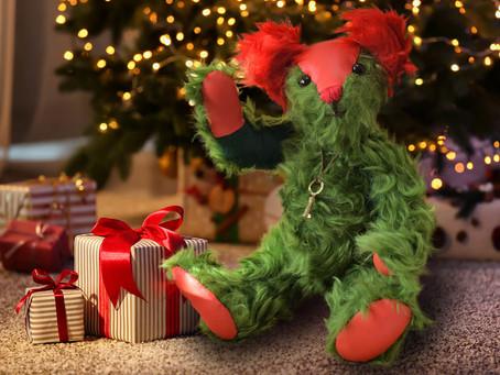 新作クリスマスベア クリスマスにぴったりのクリスマスカラーのテディベア 聖夜に是非!