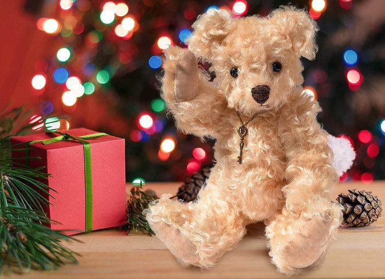 ナチュラルカラーのライトブラウン テディベア【テディベア】【ぬいぐるみ】【クリスマス】【ギフト】