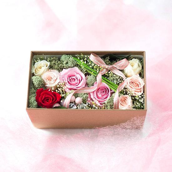 FlowerBox 「秘密の花園」ピンク&レッド
