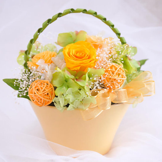 幸せの花かご Orange