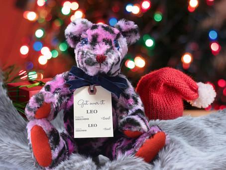 クリスマスにぴったり!レオパードのテディベア 【LIO】