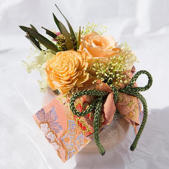 和の花「花結び」西陣織