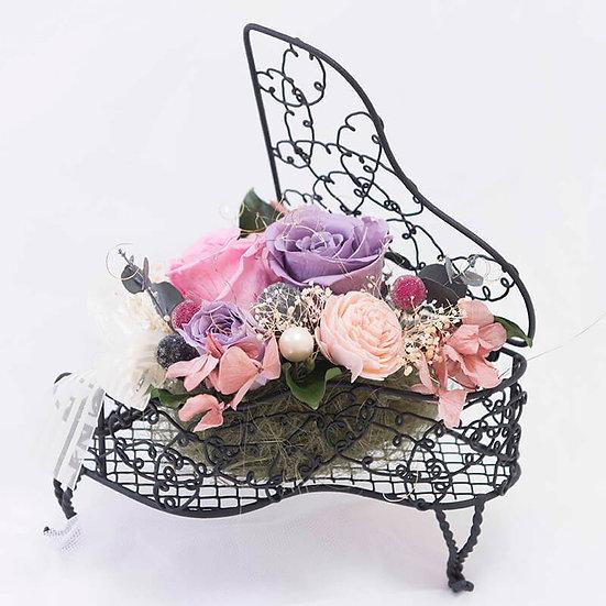 【 オーダーアレンジ】Music Floral-ピアノ ブラック
