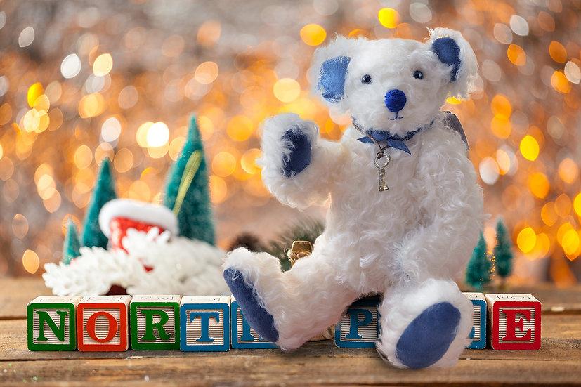 ホワイトベア クリスマスギフトにも 【テディベア】【ぬいぐるみ】【クリスマス】【ギフト】