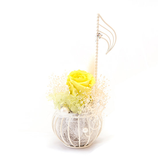 """楽器と音楽 フラワーアレンジ """"♪音符"""" プリザーブドフラワー  【オーダー】"""