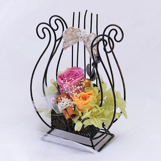 Music Floral ハープ ブラック