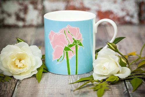 Two Roses flower mug