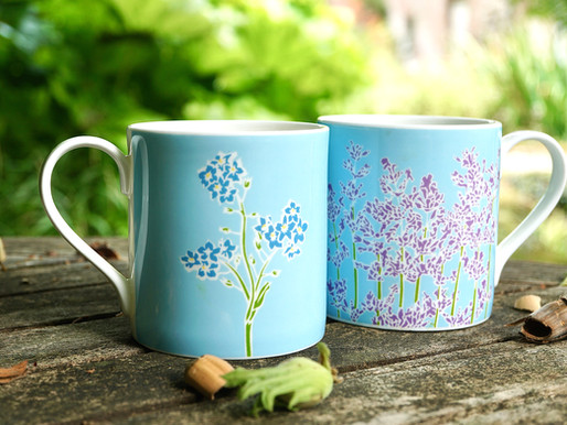 Garden tea with Lavender and Forget me nots