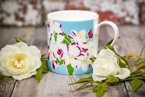 Apple Blossom flower mug
