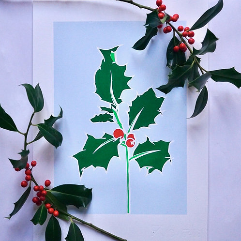 'Holly' Limited edition, handmade silkscreen print