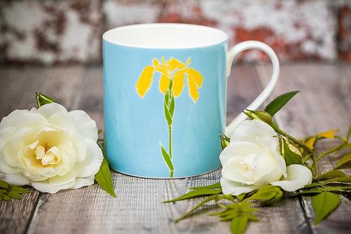 Iris flower mug