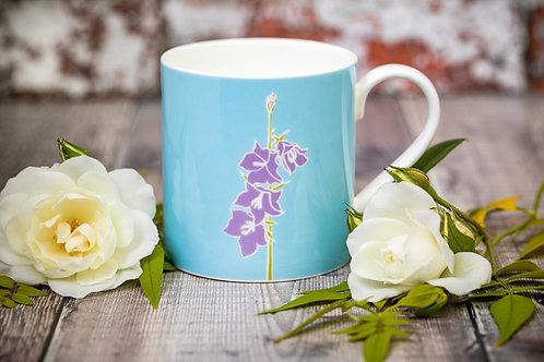 Campanula (bellflower) flower mug