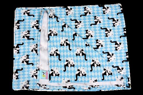 "Stroller Blanket Blue Diamonds - 30"" x40"""