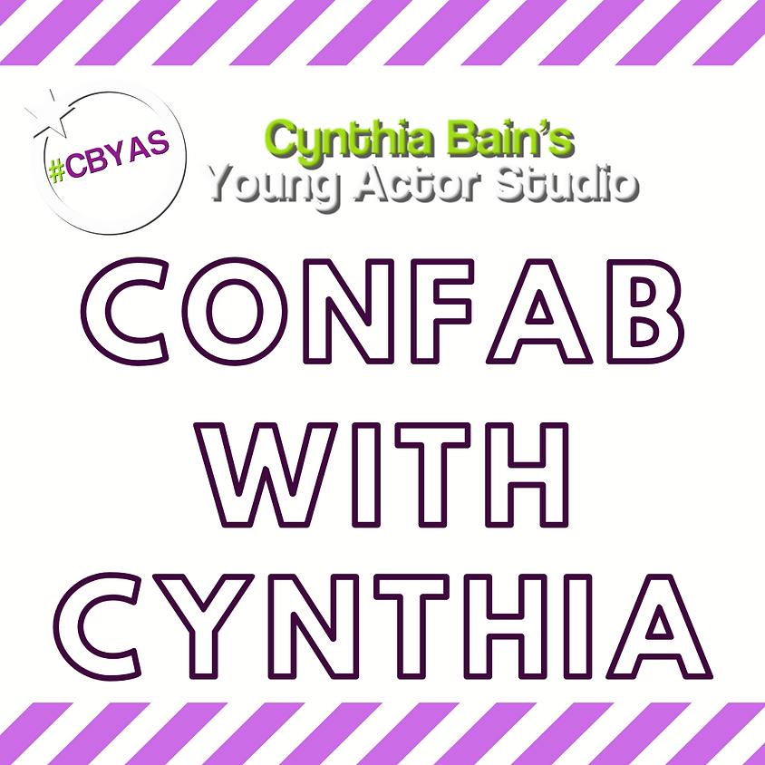 4/28 Confab with Cynthia: Guest TBA